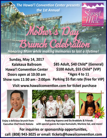 Mother's Day Brunch Celebration (Sunset Mele)