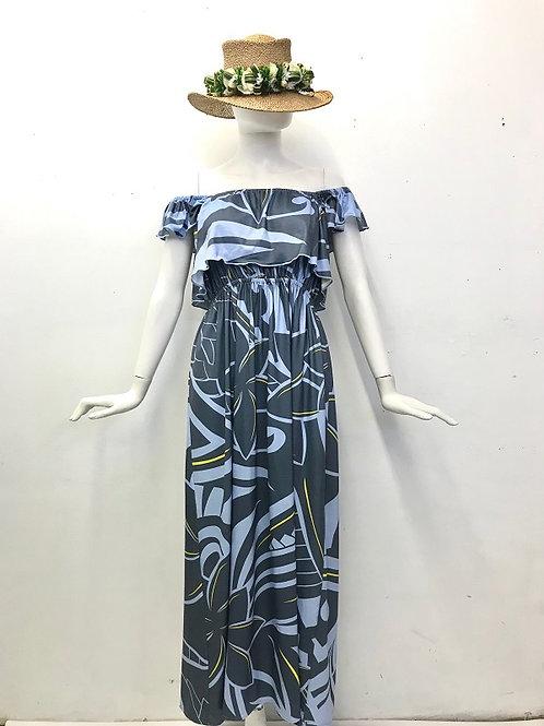 Off Shoulder dress (Gray)Plumeria