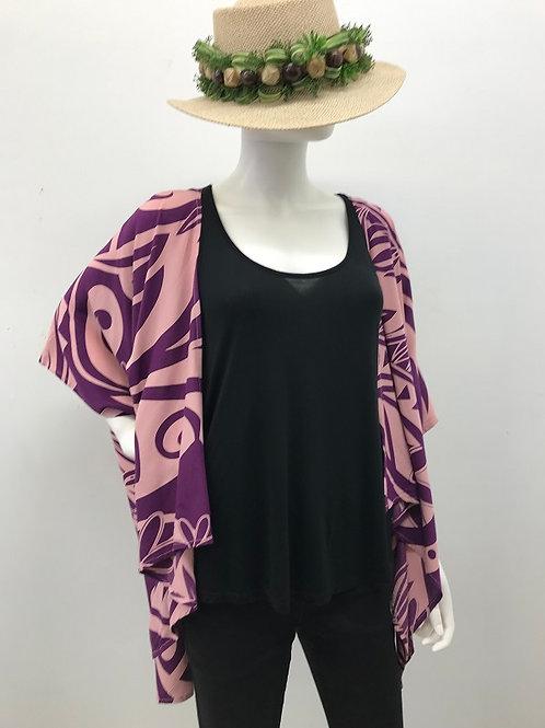 KIMONO JACKET (Purple-Pink)Maile