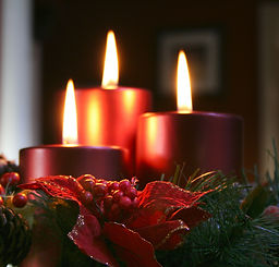 Christmas Candles In Wreath.jpg