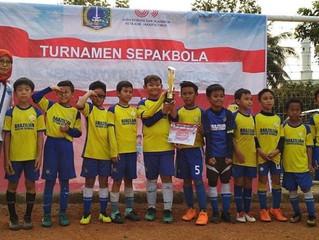 BSS Lebak Bulus U10 winning 3rd place on Garuda Cup 2018