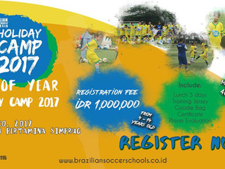 Open Registration end of year BSS Holiday Camp 2017