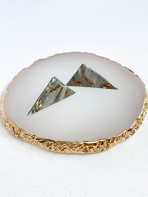 Marbled Large Triangle Studs