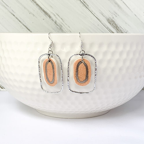 Blush dangles and white gold with silver attachments