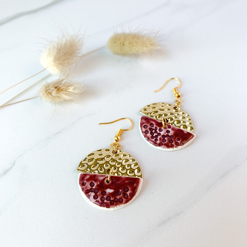 Wine half moons with gold attachments
