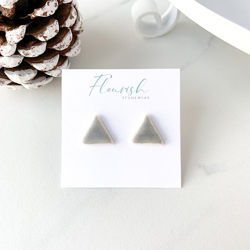 Grey-Blue Triangle Studs