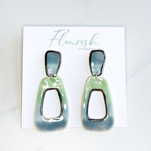 Blue Ombre Dangle Earrings