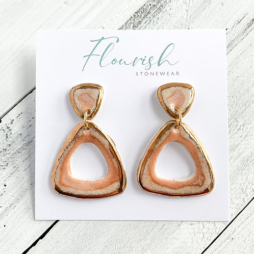 Blush Pink Dangles in Gold