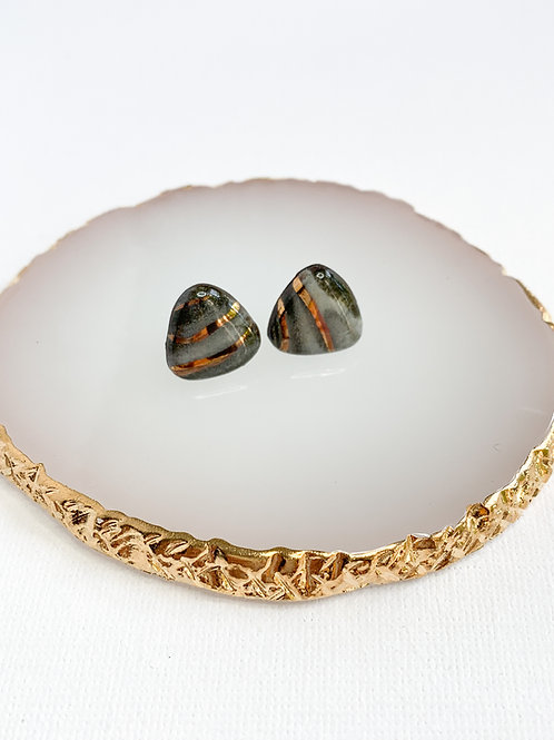 Marbled Soft Triangle Studs