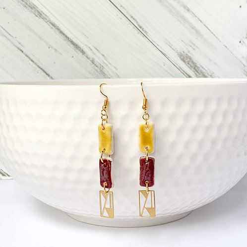 Curry and wine with gold dangles