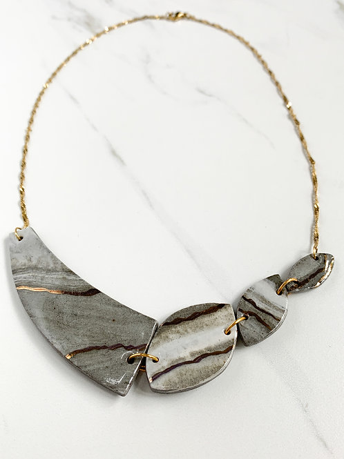 Marbled 4-Piece Necklace