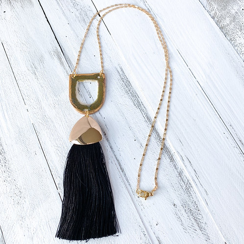 Olive Green and Gold with Black Tassel