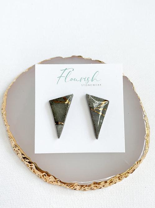 Medium Triangle Studs