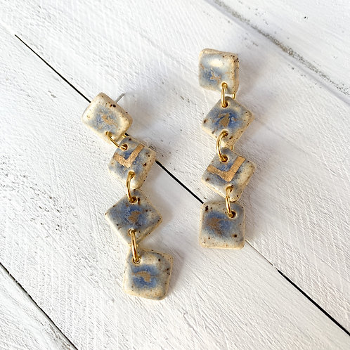 Blue-Grey with Gold Dangles