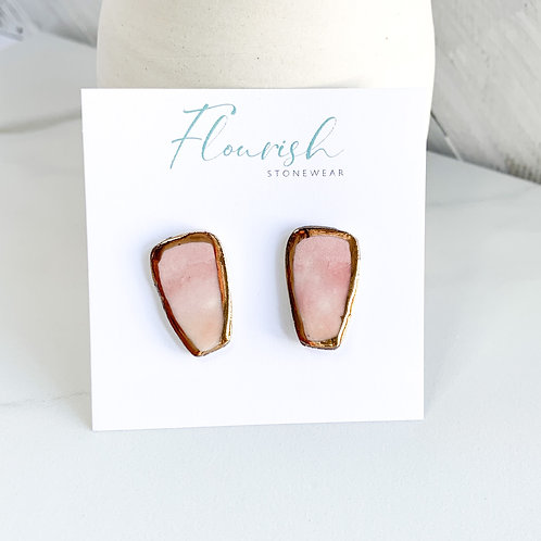 Pink Ombre Studs
