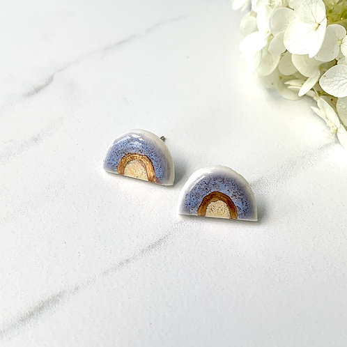 Violet, yellow and gold arch studs