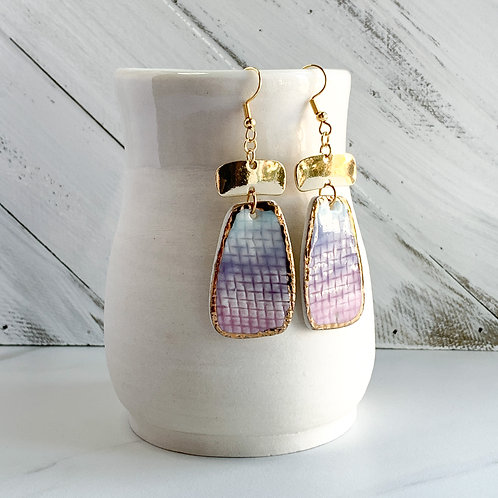 Purple Ombre Dangle Earrings