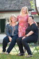 Yvonne Müller, Nicole Müler, Ilona Schmidt, verkaufen Selbsthergestelltes, Unikte, Bilder