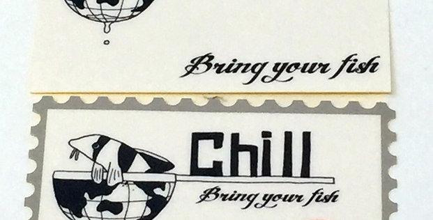 Chillオリジナル耐水ステッカー2枚組7cm×4.5cm