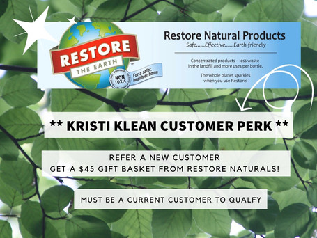 New perk just added for our referral program for our current cleaning customers!