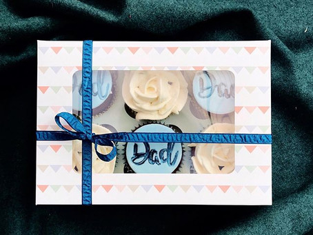 Father's Day cupcake boxes