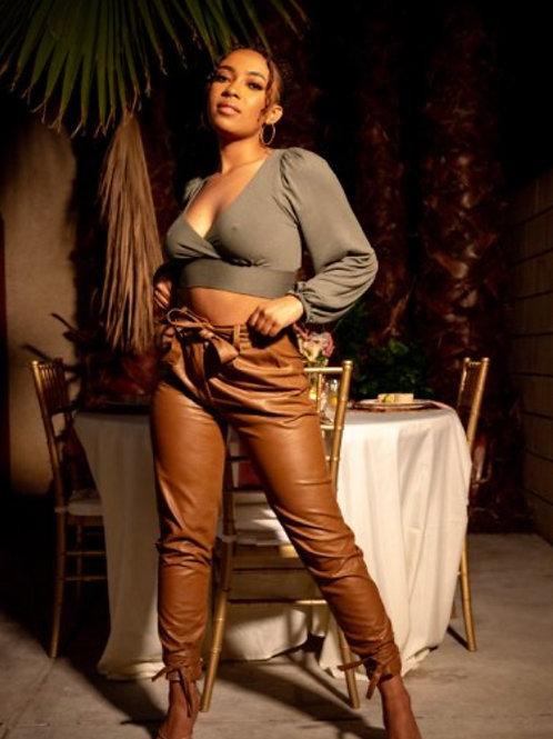 Yara | Camel Trousers