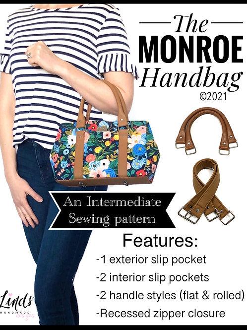 Monroe Handbag PDF sewing pattern, diy handbag, small purse tutorial