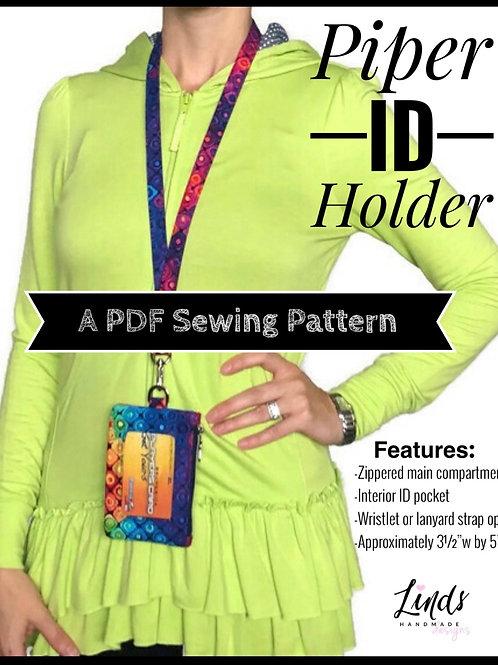 Piper ID holder PDF sewing pattern, diy ID holder pattern, minimalist wallet