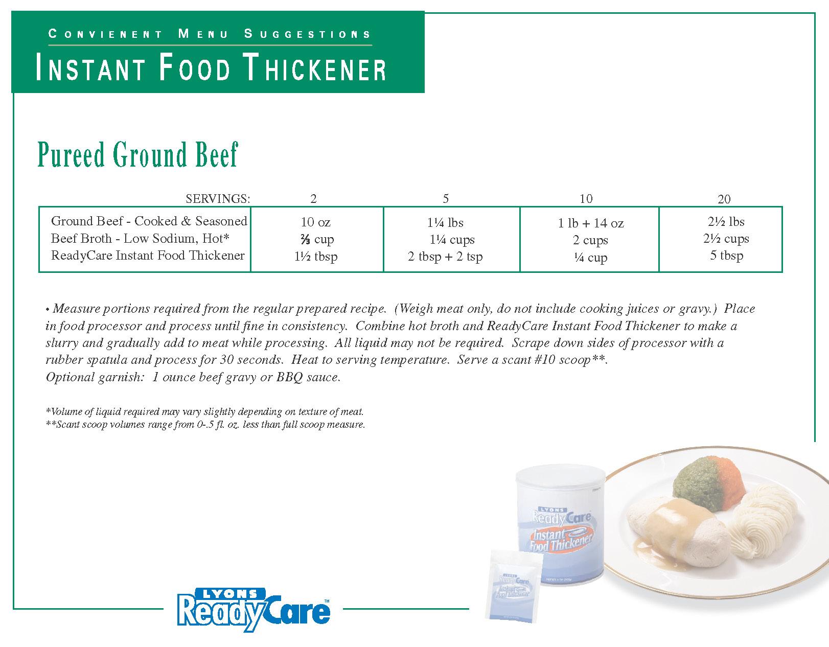 Pureed Ground Beef