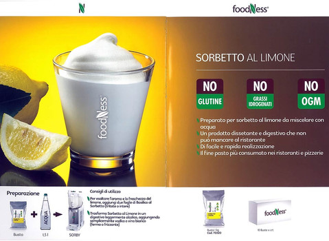 Foodness sorbetto al limone