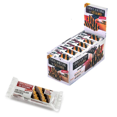 Fiorentini croccanti al sesamo con cioccolato