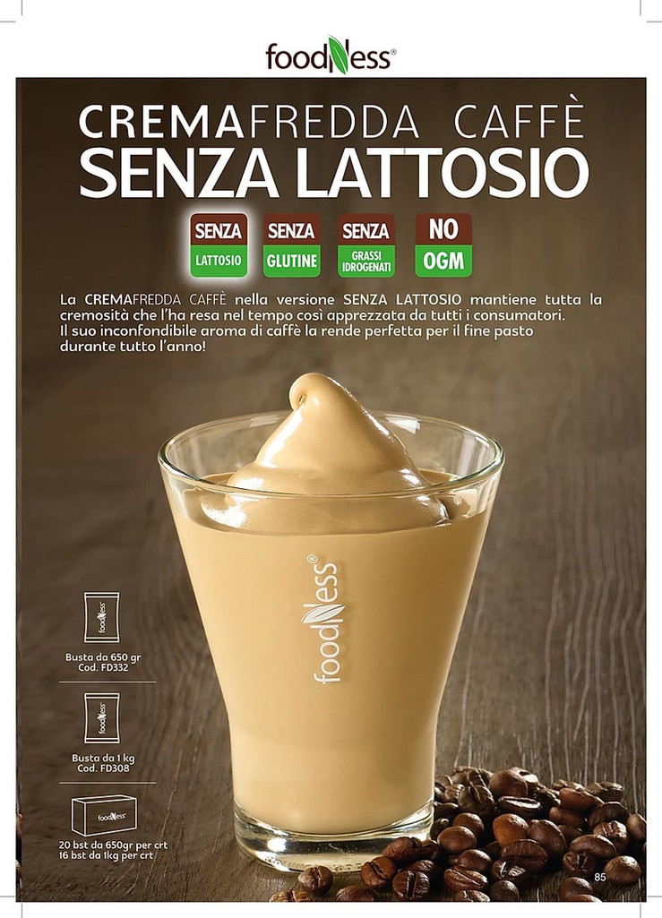 Foodness crema caffè senza lattosio