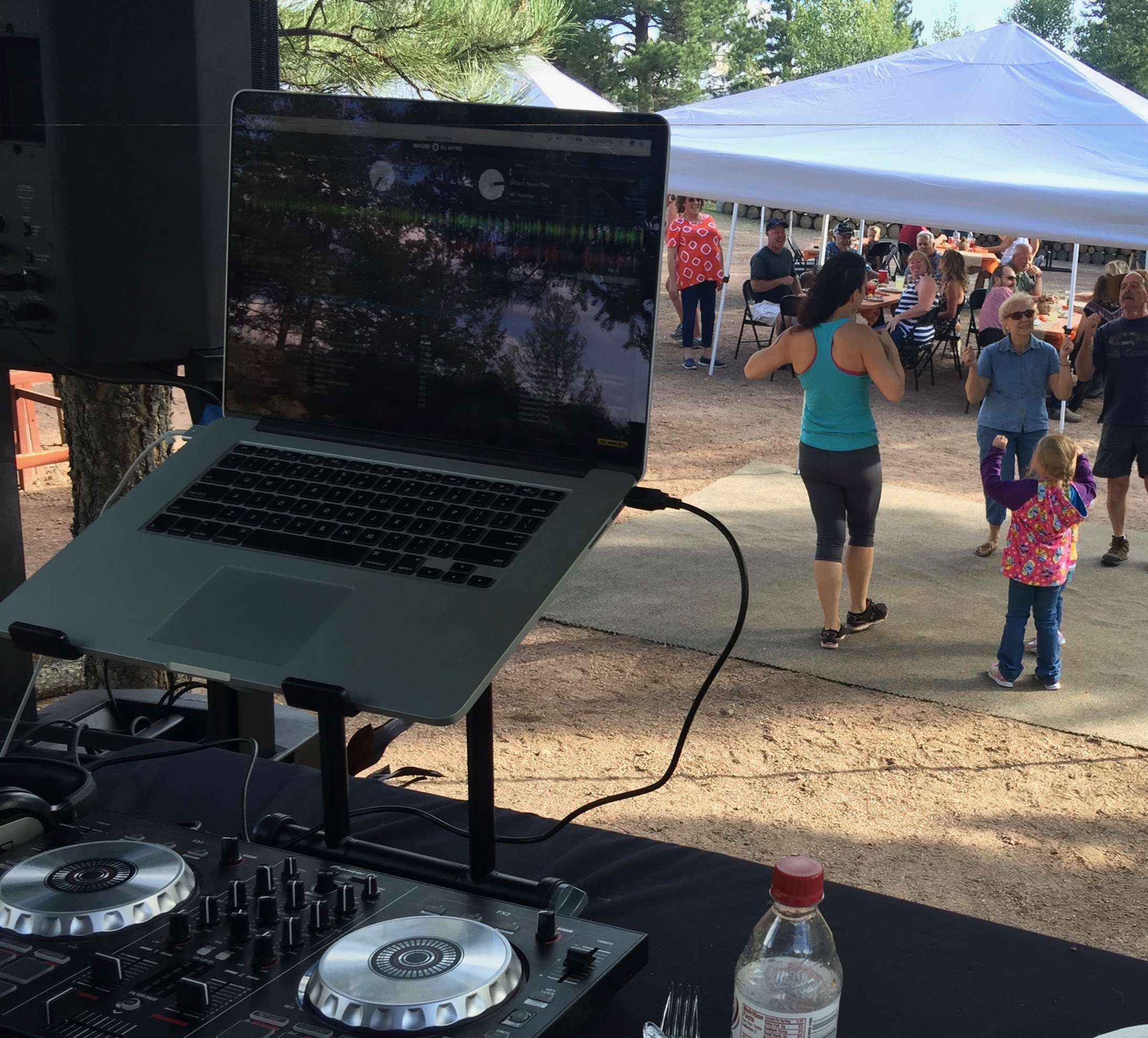 DJ setup at BBQ Party