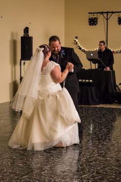 Amanda and Father dance.