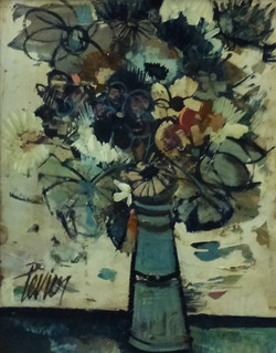Charles Levier 20 x 16 signed floral sti