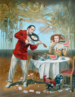 Breakfast-with-humpty-dumpty-24x30-LE-Giclee-Edition-of-100