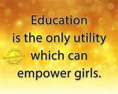 education is the only utility to empower
