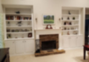 custom bookshelves fireplace atlanta