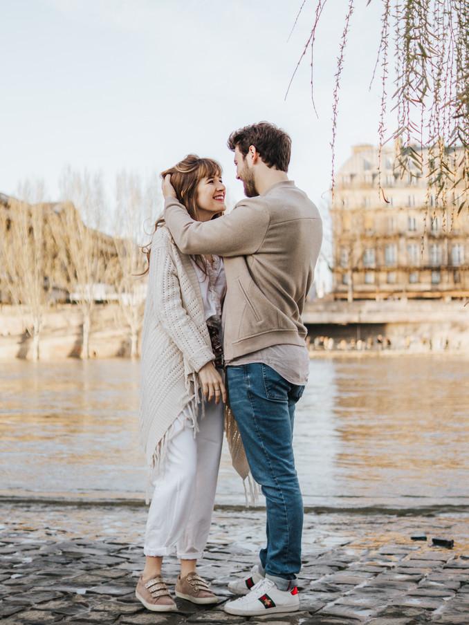 Séance photo quais de seine marie et kev