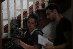 Thomas Della Bella on set.