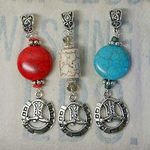 cowboy boot and horseshoe pendants