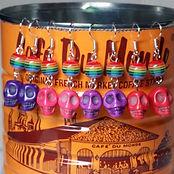 sugar skull rainbow earrings