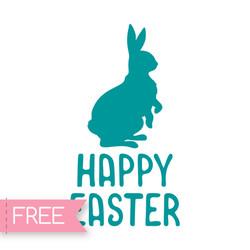 Easter Rabbit Free Cricut SVG cut file