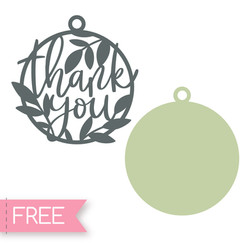 Thank You Gift Tags svg cut file