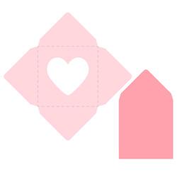 Envelope template SVG