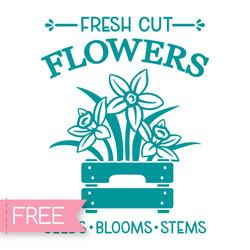 Fresh cut flowers - Free Cricut SVG files