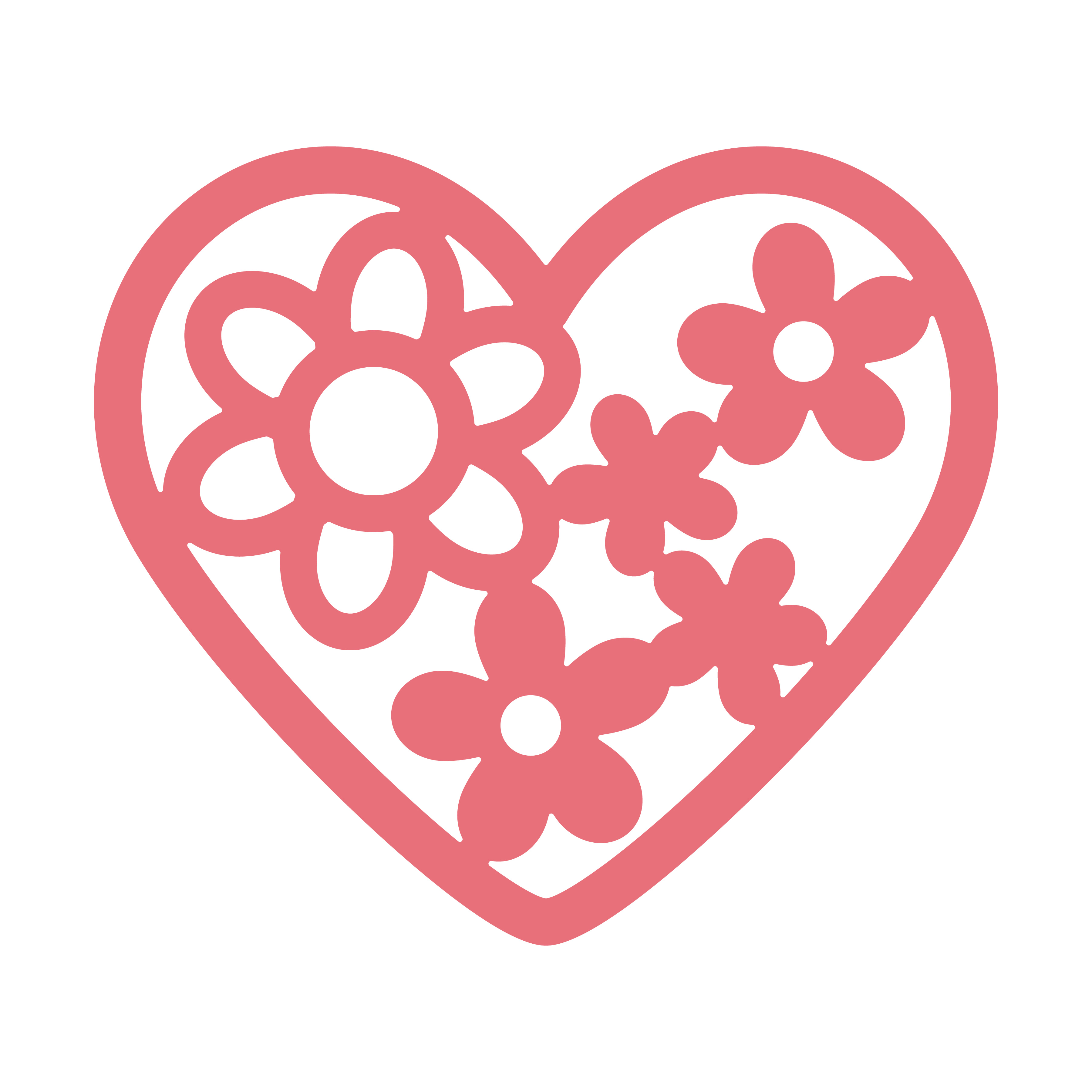Floral heart Free SVG