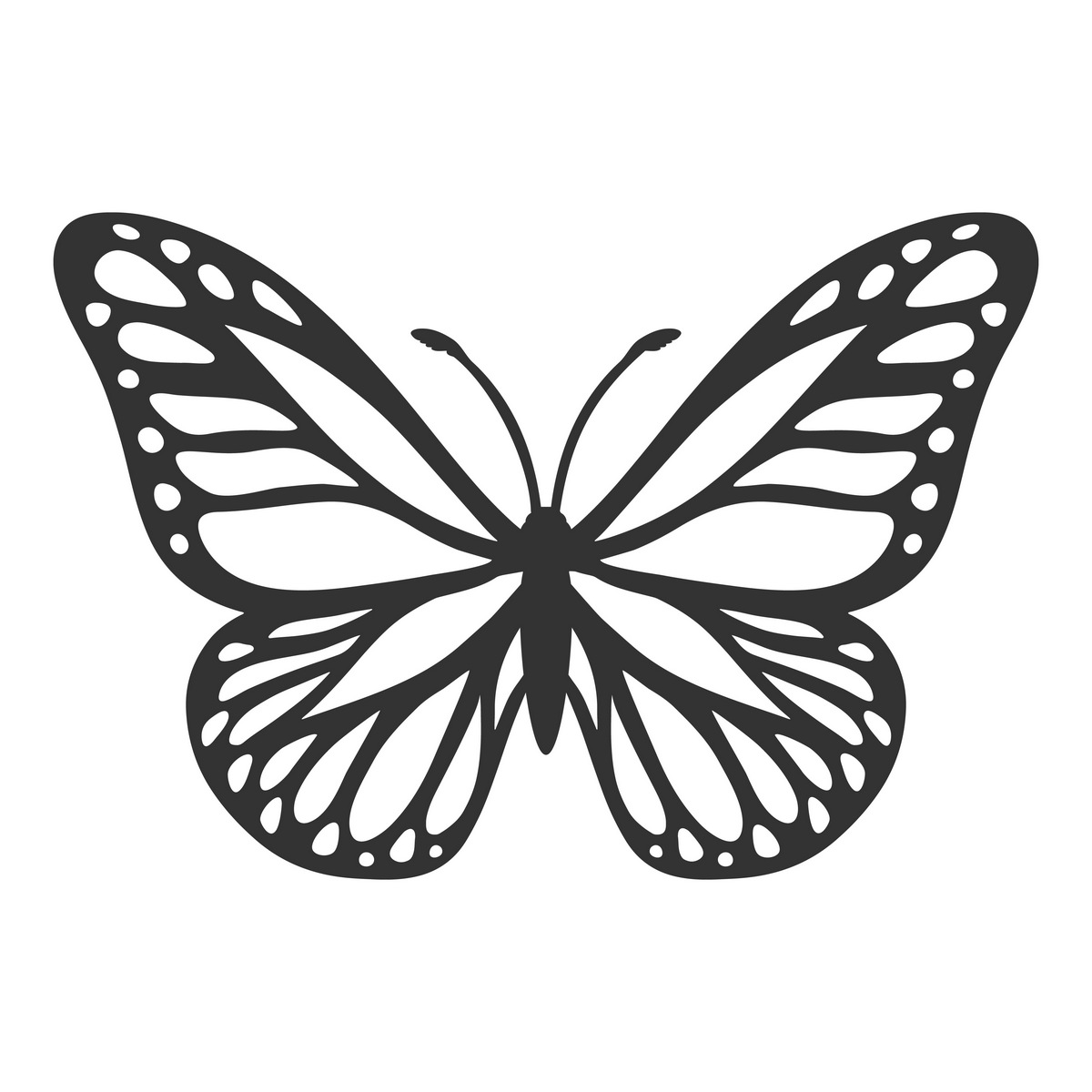 Floral butterfly svg cut file