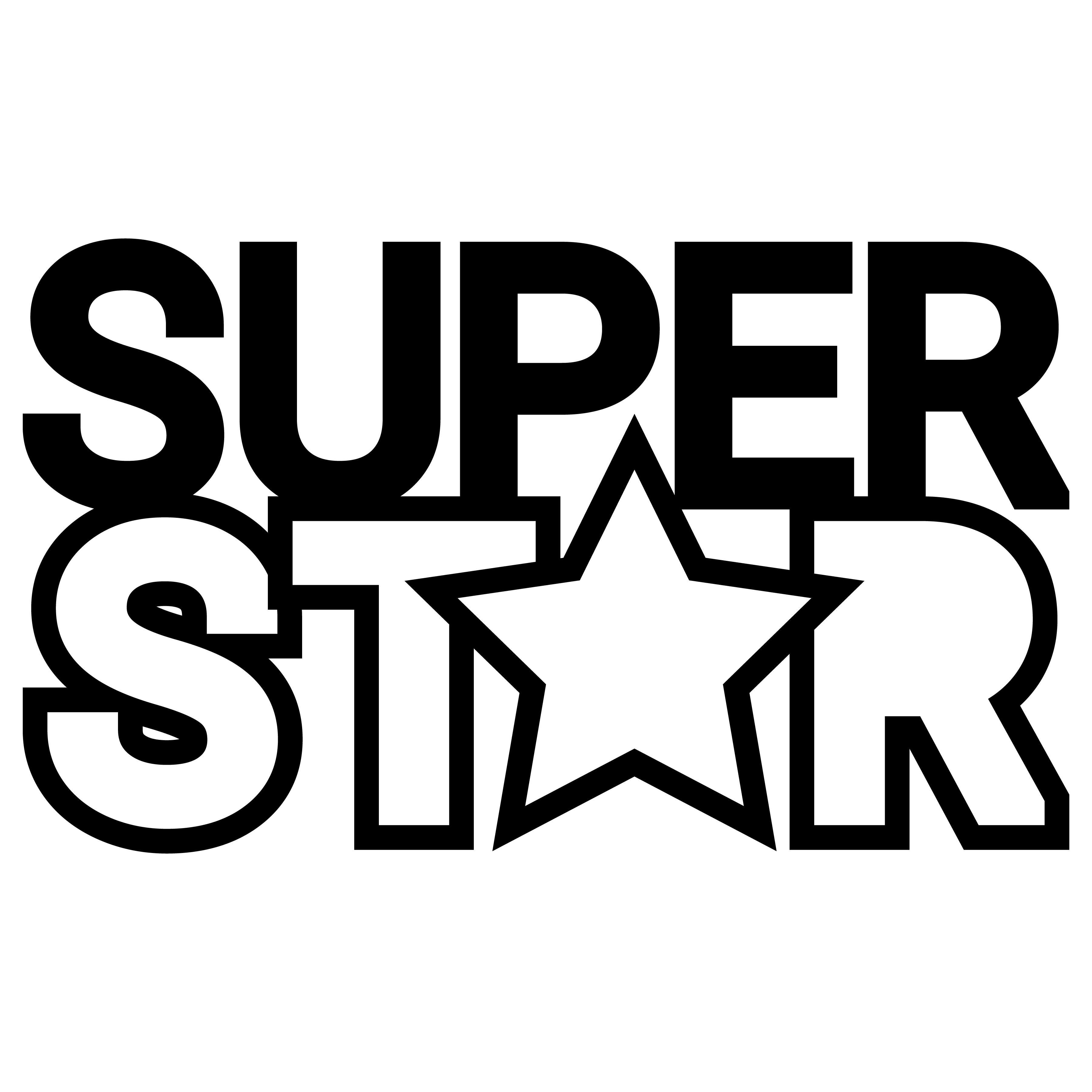 Free svg Super star