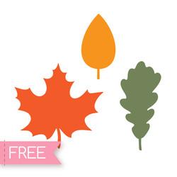 Fall leaves free SVG Cricut cut file